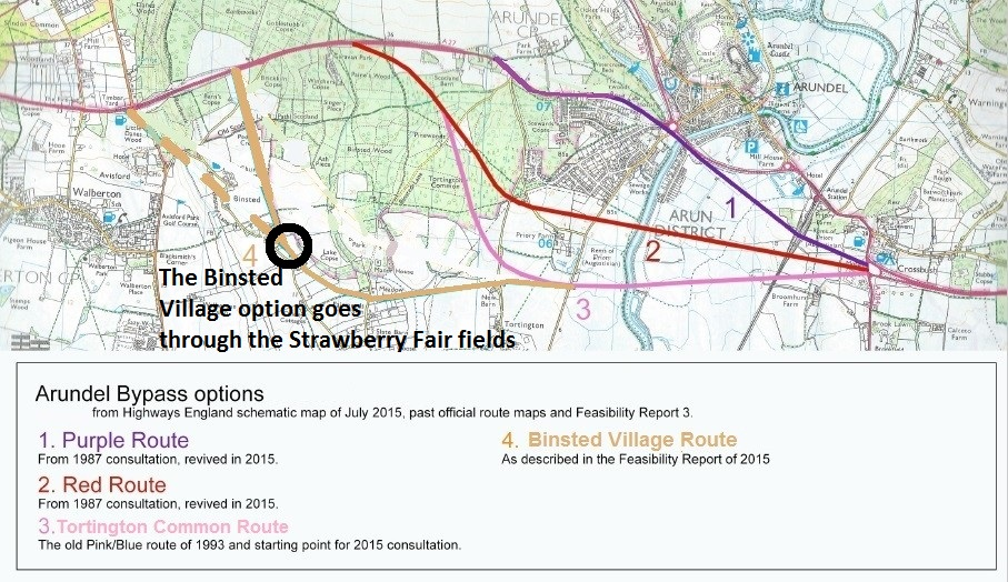 Binsted Strawberry Fair destroyed by A27 Arundel Bypass Binsted Option