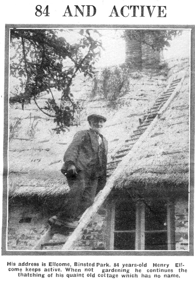 Henry Ellcombe thatching