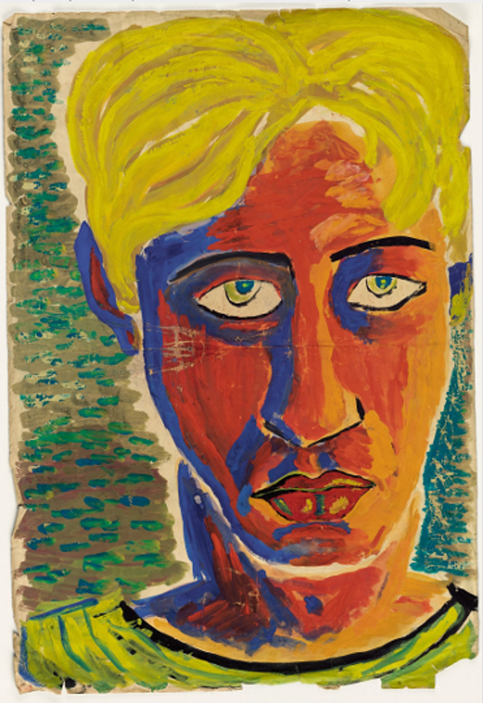 Laurie Lee self portrait