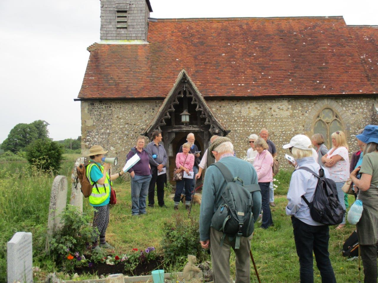 Binsted Arts Festival - Reading by Michael Wishart's grave